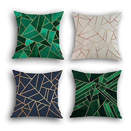 Multiart Set Of 4, Decorative Throw Pillow Covers Couch, Sofa, Bed, Modern