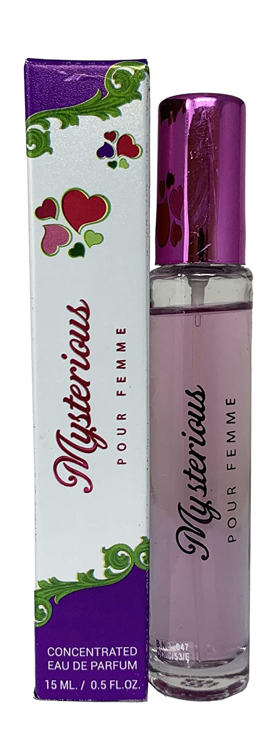 (3Pack) Mirage Brands Mysterious Pour Femme Pocket Travel Mini Size Fragrances Perfume 0.5oz for Women Inspired By FANTASY BY BRITNEY SPEARS FOR WOMEN