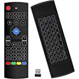 Air Mouse,MX3 Pro Backlit Mini Keyboard Remote Control,Mini Wireless Keyboard & IR Learning Air Mouse Remote,Best for Raspber