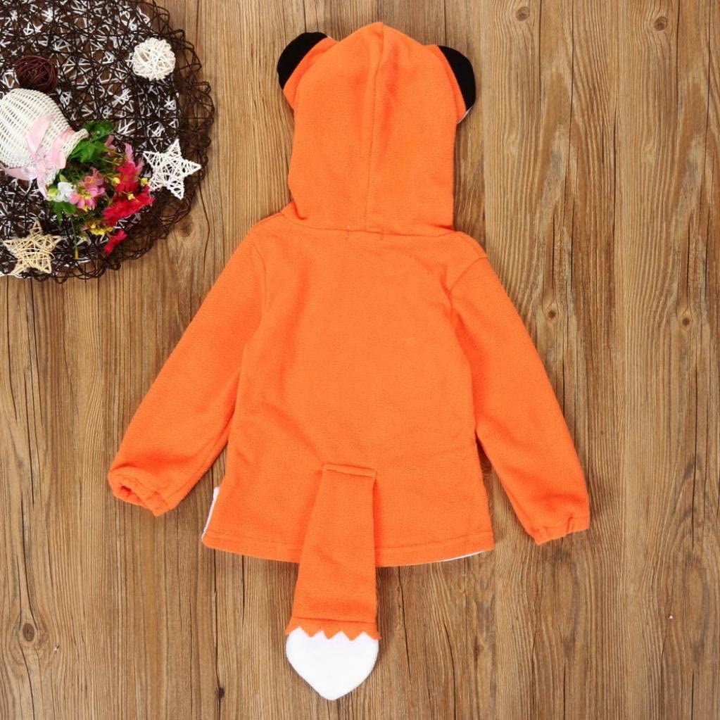 ZIYOU Unisex Baby Kinderjacken mit Kapuze Pullover F/üchse