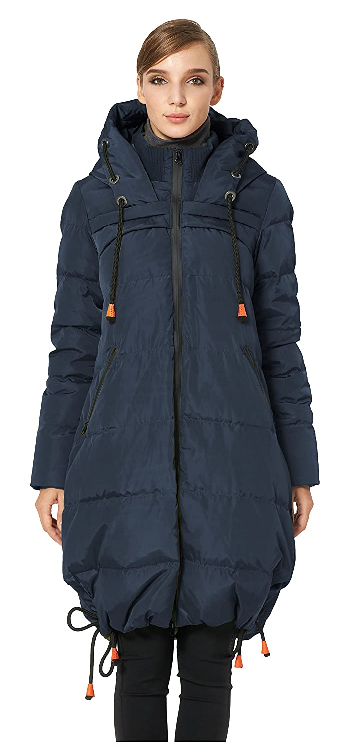 113585042816 Amazon.com  Orolay Women s Thickened Contrast Color Drawstring Down Jacket  Hooded Coat  Clothing