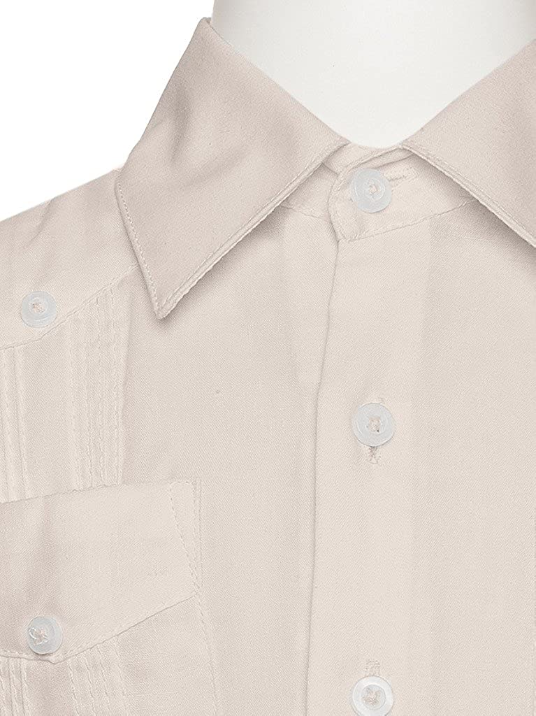 3dca56b445 Amazon.com  Gentlemens Collection Guayabera Shirt for Boys - Linen Look  Cuban Shirt Great for Beach Wedding  Clothing