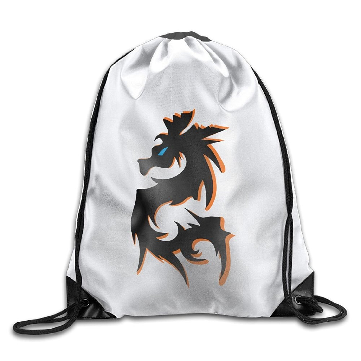 Dragon Cute Gym Drawstring Bags Travel Backpack Tote School Rucksack