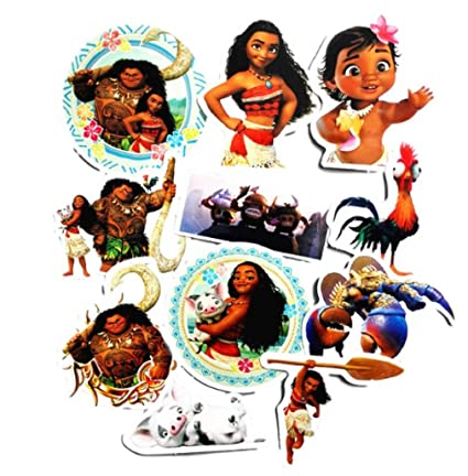 Disney's Moana Characters Decal Stickers Assorted Lot of 11 Pieces