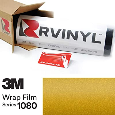 3M 1080 S335 Satin Bitter Yellow 5ft x 1ft W/Application Card Vinyl Vehicle Car Wrap Film Sheet Roll: Automotive