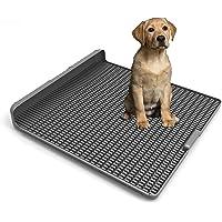 Hyerspace - Soporte para inodoro integrado para perros de 45 x 41 cm, tamaño ampliado por diseño de empalme sin costuras…