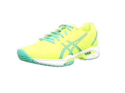 brand new a38ec 022a8 ASICS Gel-Solution Speed 2, Tennis Femmes - Jaune (Flash Yellow Mint