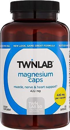 Twinlab Magnesium Supplement 420mg 200 Capsules