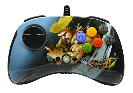 Mad Catz Street Fighter IV Round 2 FightPad - Guile (Xbox 360) [Importación