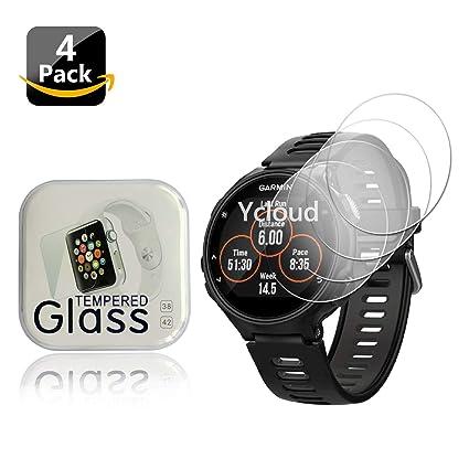 Ycloud [4-Unidades Protector de Pantalla de Vidrio Templado para Garmin Forerunner 735XT Smartwatch Alta Definicion 9H Dureza Anti-Explosion: Amazon.es: Electrónica
