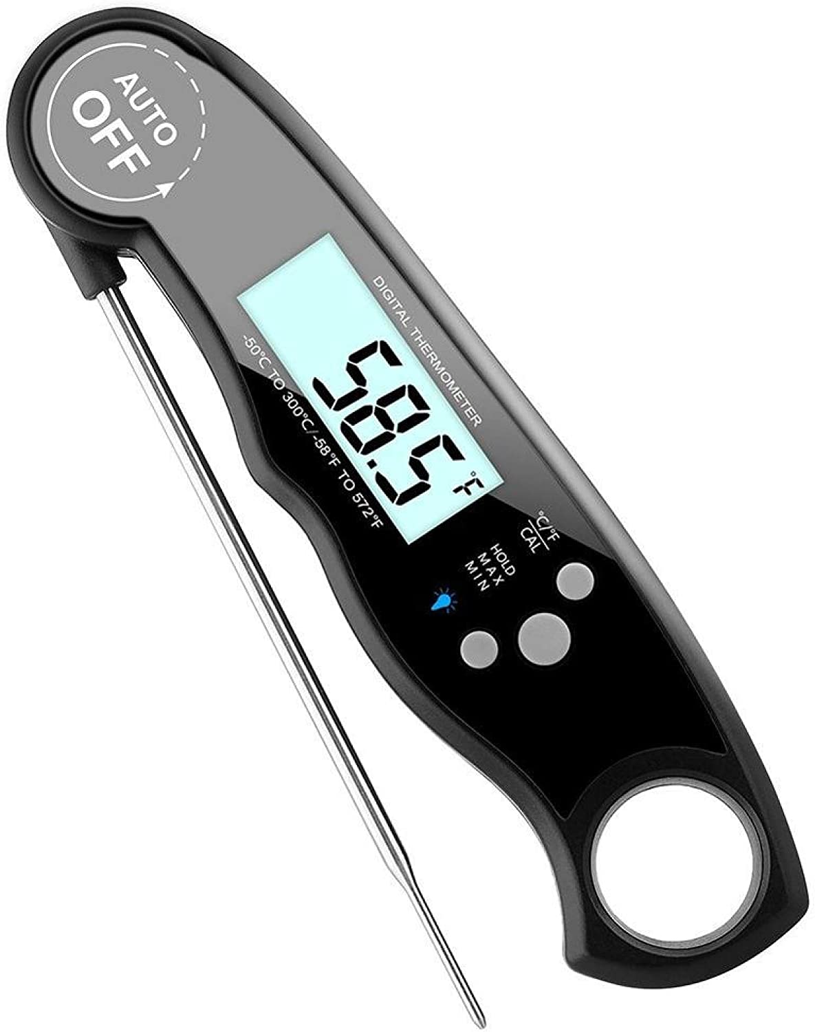 Millona Meat Thermometer, Digital Instant Read Food Thermometers, Waterproof Cooking BBQ Thermometer with Foldable Probe