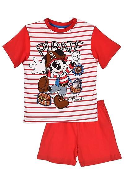 Mickey Mouse - Pijama dos piezas - para niño Rojo rosso 8 Años: Amazon.es: Ropa y accesorios