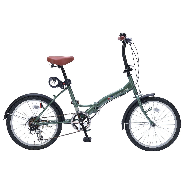 My Pallas(マイパラス) 折畳自転車20インチシマノ6段ギアライトカギ付 AZ-206FD2 B079ZSK7RR アイビーグリーン アイビーグリーン