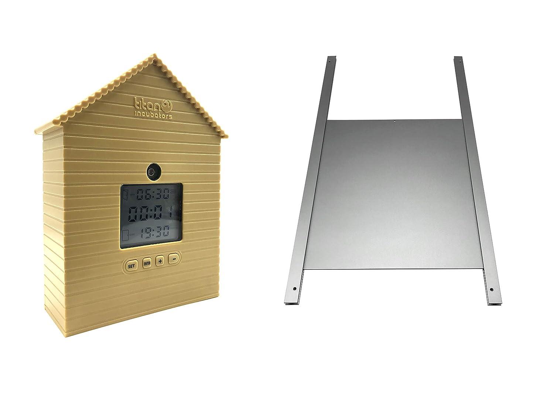 Automatic Chicken Coop / House Door Opener WITH Light Sensor & Timer PLUS Metal Door Titan Incubators