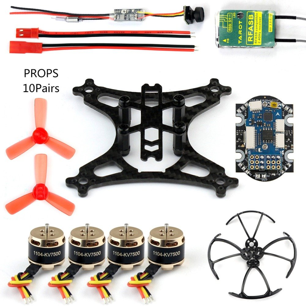 GEHOO DIY Mini Racer Drone with Camera 800tvl Transmission Flysky X6B TX Receiver Brushless Motor for RC Quadcopter CS PRIORITY