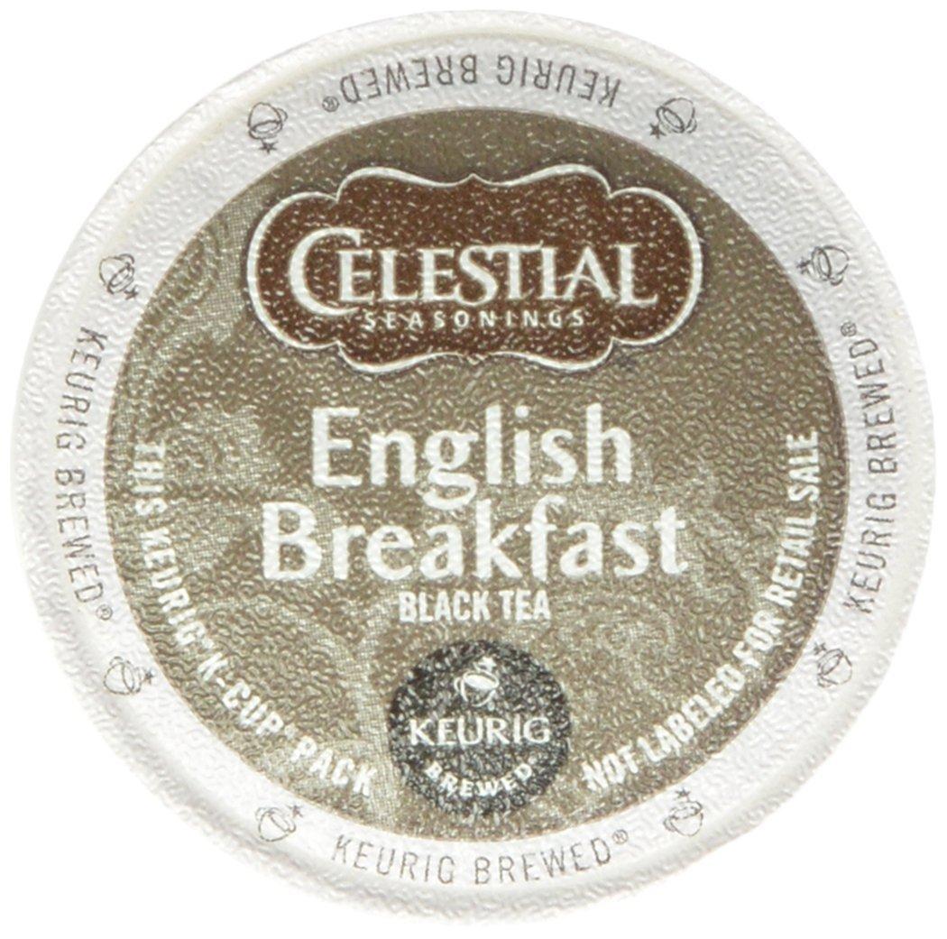 Celestial Seasonings English Breakfast Black Tea, K-Cup Portion Pack for Keurig K-Cup Brewers, 60-Count by Celestial Seasonings
