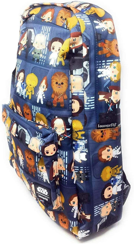 Loungefly Disney Star Wars Chibi Character Nylon Backpack