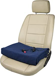 """ObboMed-Sh-4214 Deluxe Electric 24V 60W Luxurious Comfy Polar Fleece Heated Travel Blanket, Winter Ac Accessory Essential, With Premium Cigarette Lighter Plug For Truck, Van, Boat, Size 61"""" X 41.3"""""""