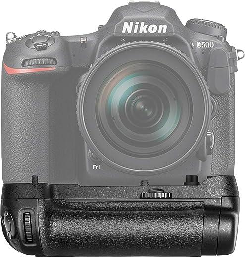 حامل بطارية بديل لكاميرا نيكون دي 500 موافق لبطارية اي ان - اي ال 15 واحدة او 8 بطاريات ايه ايه من نيوير، MB-D17
