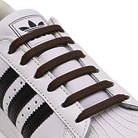 RJ-Sport 20 elastische Schnürsenkel ohne binden Unisex 4 bis 8 cm verschiedene Größe für die Schuhgrößen 24–50, Silikon Schnürsenkel flach für die Kinder, die Jugendlichen, die Eltern und die Senioren