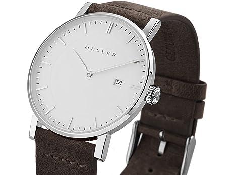 Meller Reloj Analógico para Unisex Adultos de Cuarzo con Correa en Cuero 1B-1BROWN1: Amazon.es: Relojes