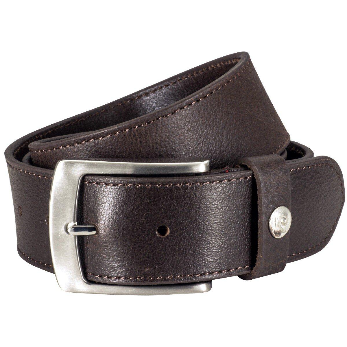 70161 completamente bufala-in pelle marrone Cintura in pelle uomo//gnaulm uomo Pierre Cardin