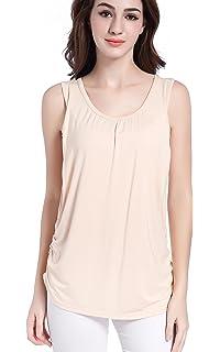 a227d22d245764 SUIEK Maternity Nursing Shirt Breastfeeding Tank Tops Cami Summer Clothes