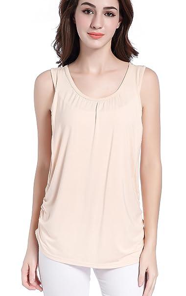 927f1fc341 SUIEK Maternity Nursing Shirt Breastfeeding Tank Tops Cami Summer ...