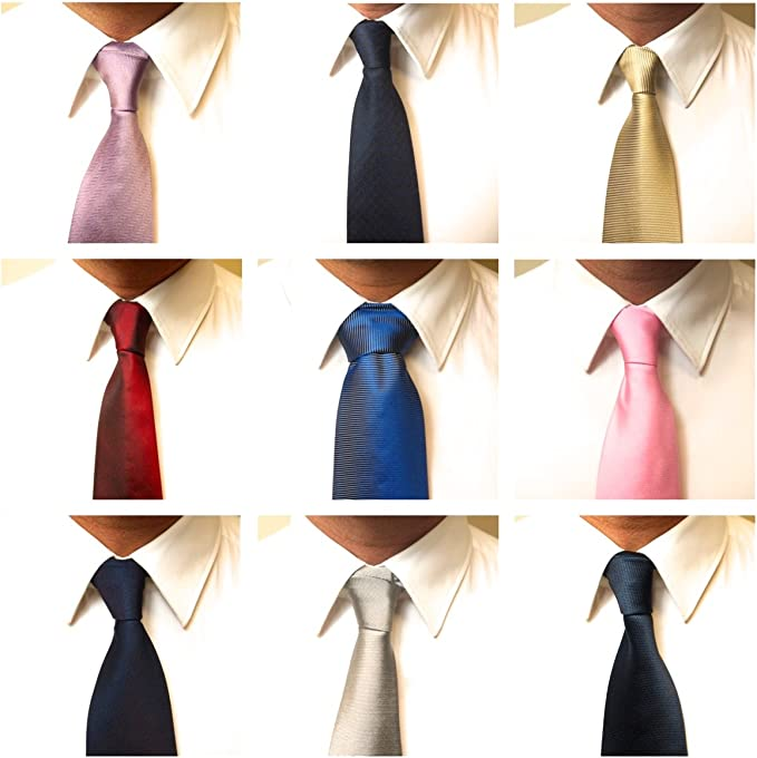 Hombre Nuevo 100% o 60/40% seda pura Italiano corbata Classic ...