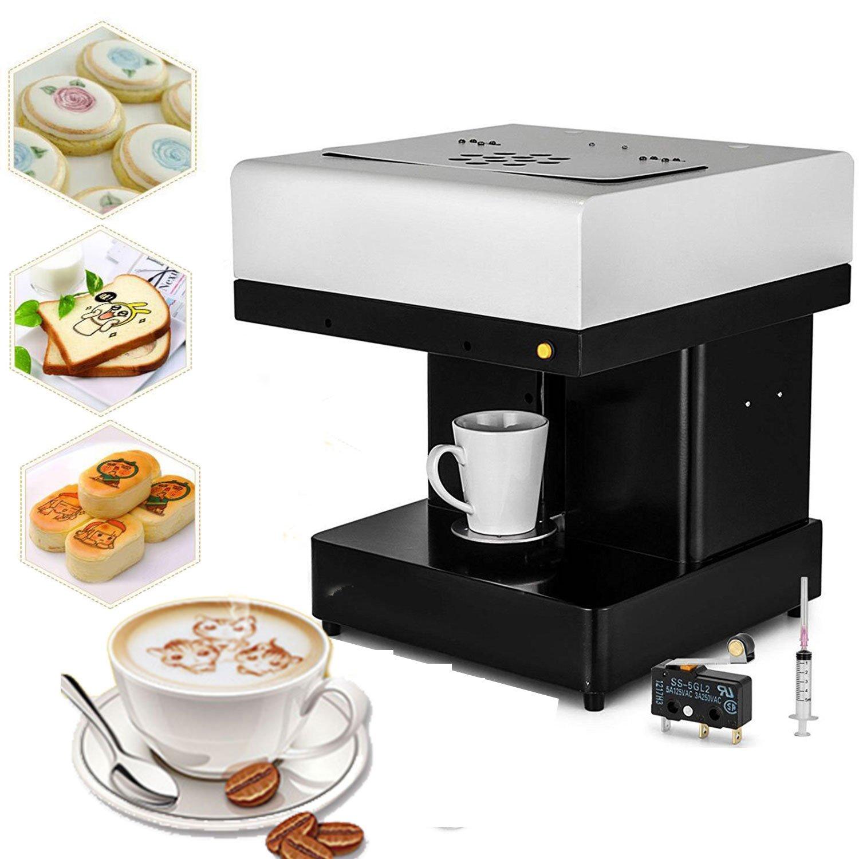 Happybuy Coffee Printer DIY Art Design Food Printer Coffee Latte Art Printer Coffee Maker Selfie Milk Tea Printer (Coffee Printer)