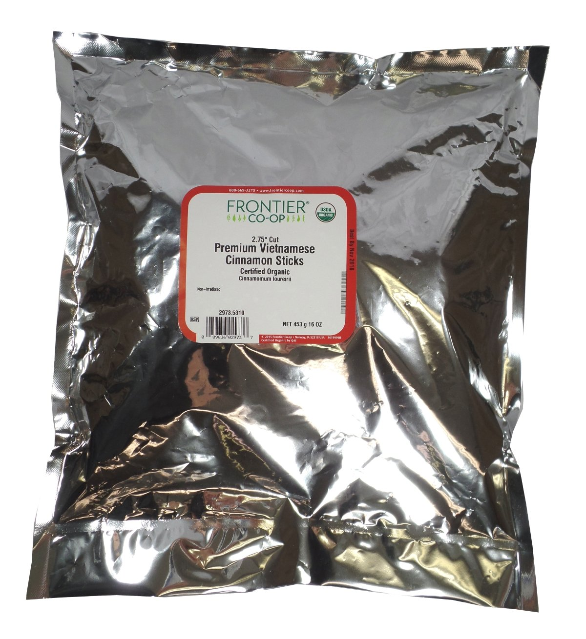 Frontier Cinnamon Sticks, Vietnamese Premium, 2 3/4'' Certified Organic - 16 oz