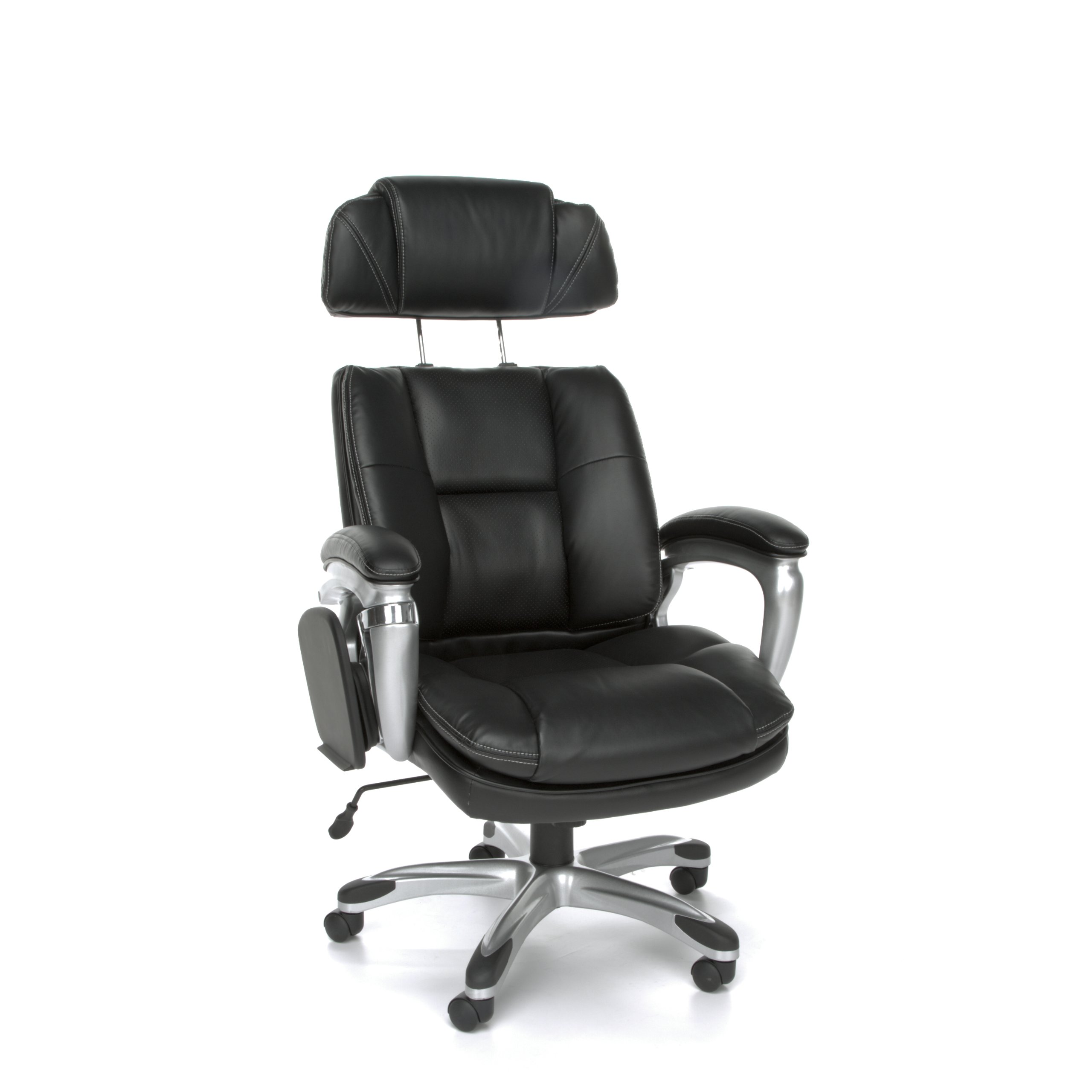 OFM ORO100 Leather Tablet Chair with Adjustable Side Bolsters