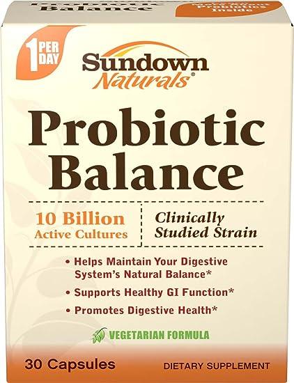Amazon.com: Sundown Naturals Probiotic Balance, 30 Capsules: Health & Personal Care