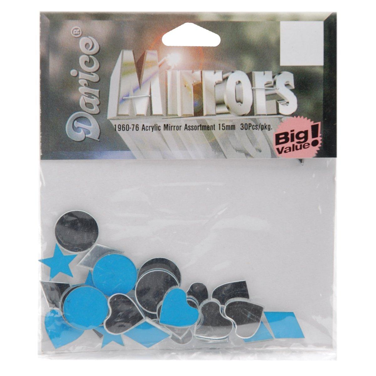 Acrylic Mirror Shapes 30/Pkg-15mm