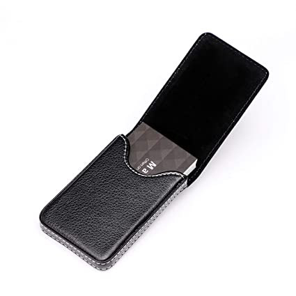 c65127ee25b1 MaxGear Business Card Holder Premium PU Leather Business Card Case Wallet  Men's/Women's Pocket Business