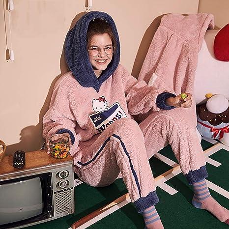 Ropa De Dormir Batas Mujer Conjunto De Pijamas Invierno Señoras,Camisones Ropa De Dormir Ropa