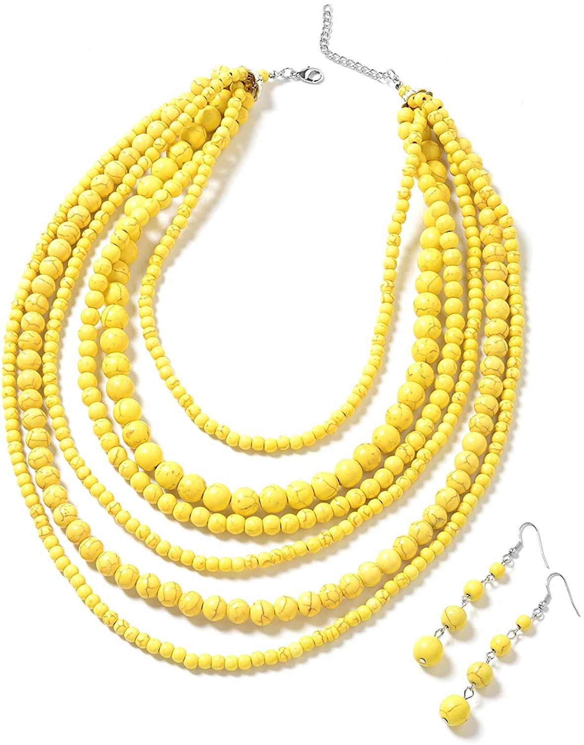 shell beads Adjustable from 18 to 20 inches and plastic beads necklace Multistrand mother of pearl One of my earlier pieces of jewelry.