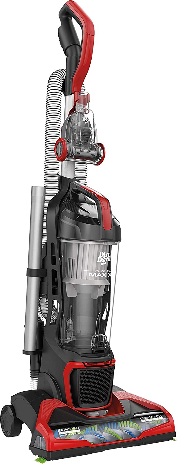 Dirt Devil Endura Max XL Bagless Upright Vacuum Cleaner, with No Loss of Suction, UD70182, Red