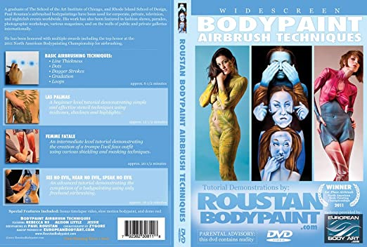 Amazon. Com: roustan body paint airbrush techniques tutorial dvd.