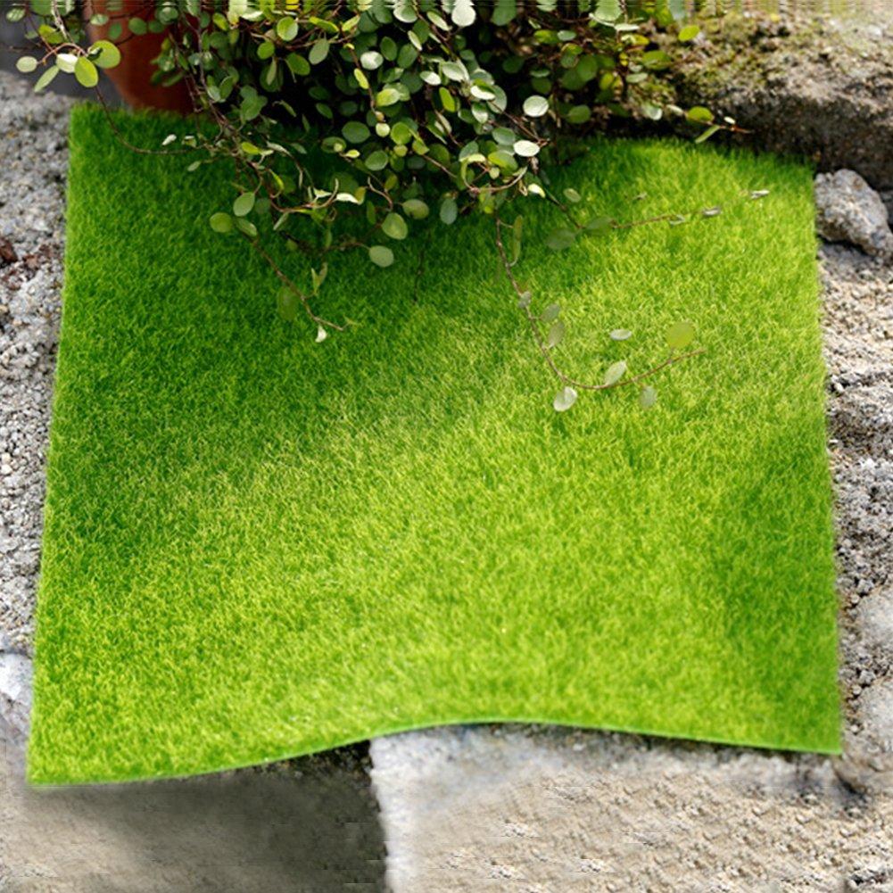 1 pieza DIY césped de hada césped césped artificial hierba césped hada jardín adorno casa de muñecas manualidades Mini Decoración de jardín, As ...
