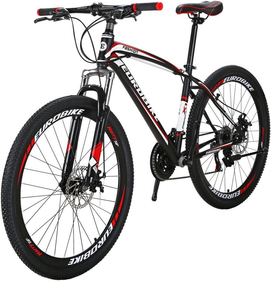 Eurobike EURX1 27.5 Inch Wheels Mountain Bike 21 Speed MTB Bicycle Suspension Fork Mountain Bicycle