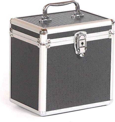 STUDIO X Pequeño Aluminio Música Dj Auriculares Micrófono CD Estuche Para Vuelos Caja Negro: Amazon.es: Instrumentos musicales