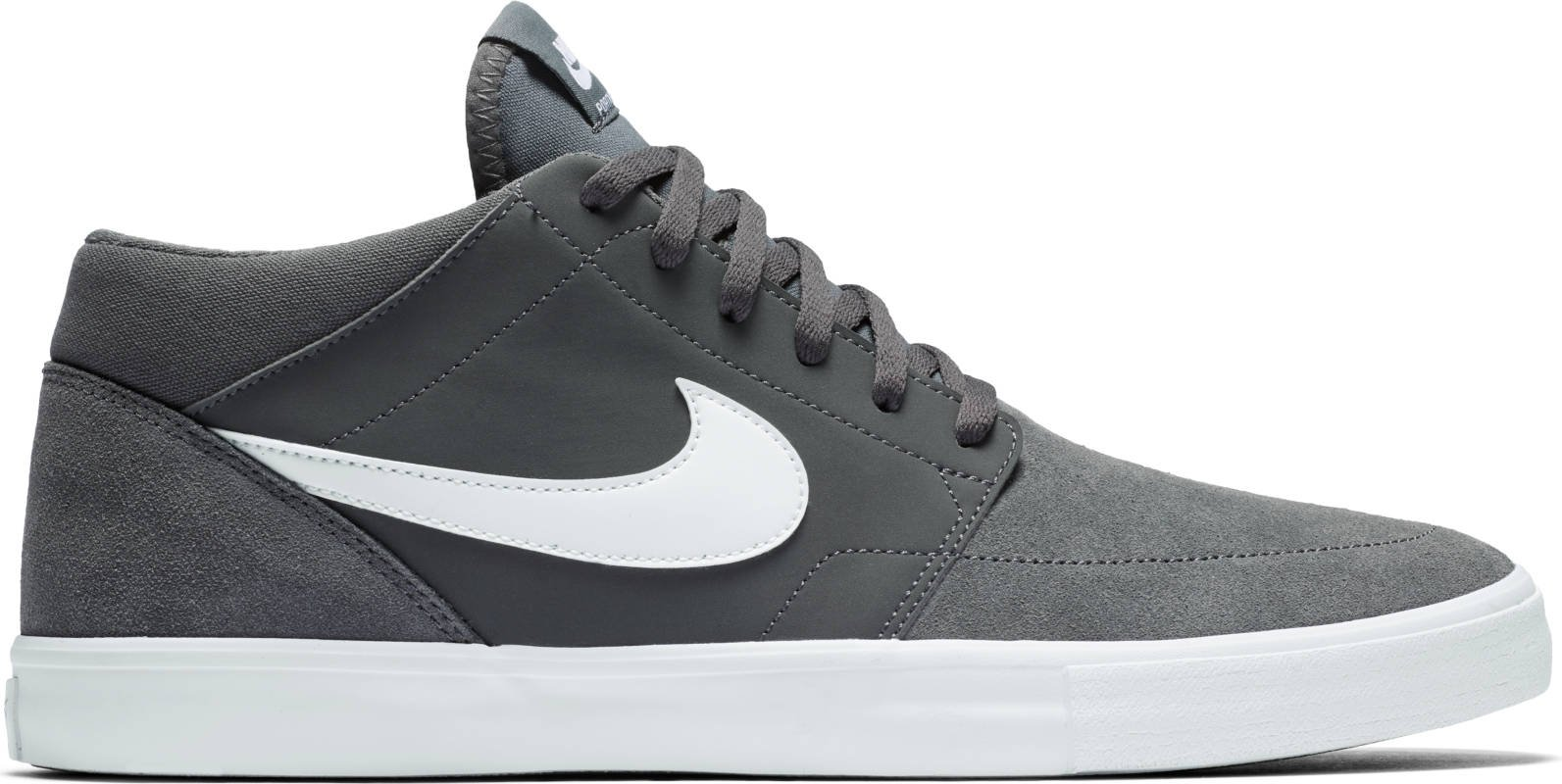 8b5cd0ce45c1dd Galleon - NIKE Mens SB Portmore II Solar MID Dark Grey White Size 14