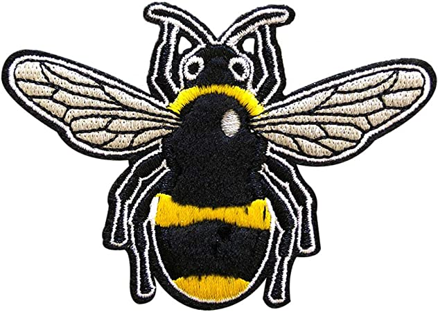 Small Bumble Bee x 2 Iron on Applique Patch
