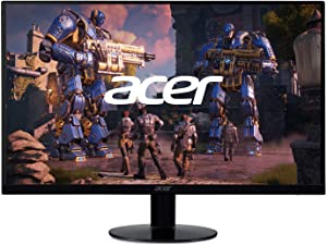 "Acer SB240Y Bbix 23.8"" Full HD (1920 x 1080) Ultra-Thin Zero-Frame IPS Monitor with AMD Radeon FREESYNC Technology and 1ms VRB (HDMI Port & VGA Port)"
