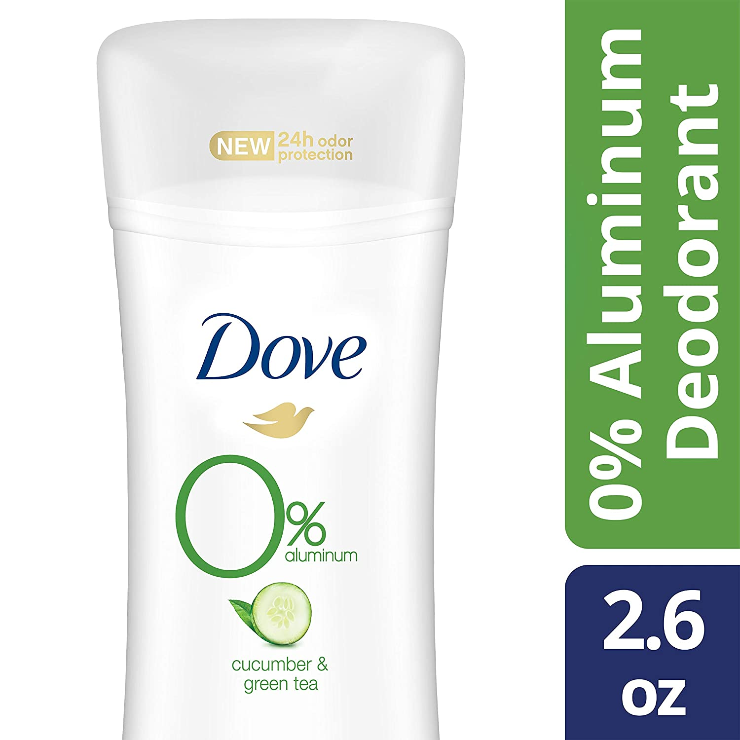 DOVE WOMENS DEO Dove 0% aluminum deodorant cucumber & green tea 2.6oz, pack of 3, 7.8 Ounce