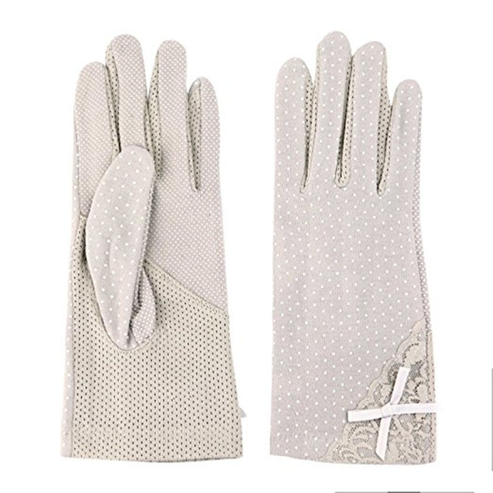 Summer Ladies Driving Gloves Anti-skid Sun Uv Protection Womens Outdoor Cotton Gloves Style A