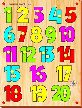 Kinder Creative KCN 01 Number Board with Knobs, Multi Colour