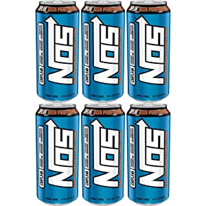 NOS High Performance Energy Drink, 16oz Can (Pack of 6, Total of 96 Fl Oz)