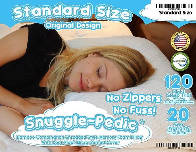金盒特价 Snuggle-Pedic 防螨记忆枕 8折$39.99起 海淘直邮到手¥349